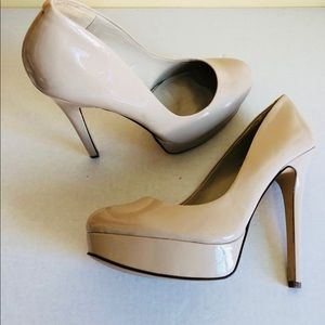 Aldo Nude Round Toe Pumps